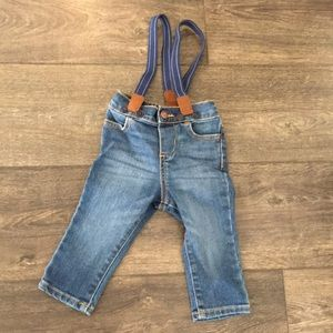 Baby B'gosh jeans with suspenders